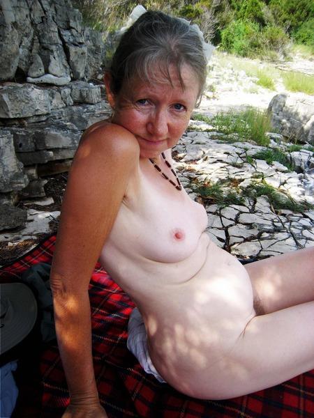 nude aunties in water